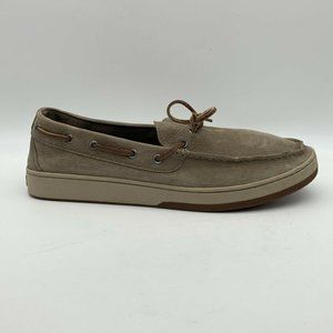 L L Bean Mens Boat Shoes Brown Lace Up 14